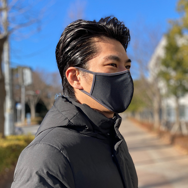 男性用水着素材UVカットパイピングマスク