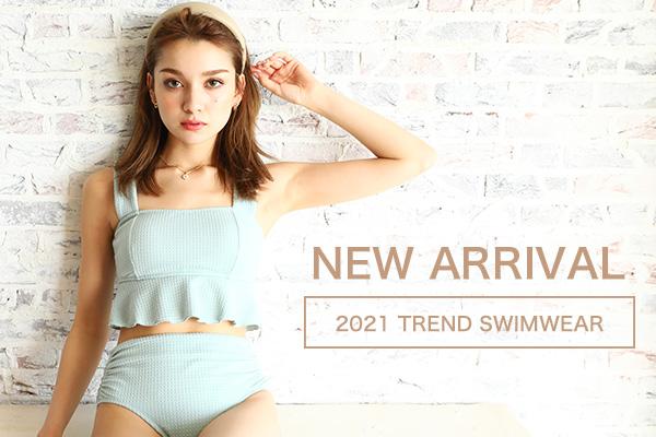 <span>2021年新作水着&リゾートウェアをCHECK!!</span>水着も2021年新作が続々と入荷中★トレンドからベーシックまで年中いつでもご購入いただけます。