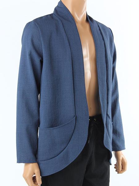 メッシュ素材メンズジャケット(メッシュドビーJK166110)