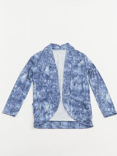 ダメージデニム柄メンズUVカットジャケット(ビリデニJK166142)