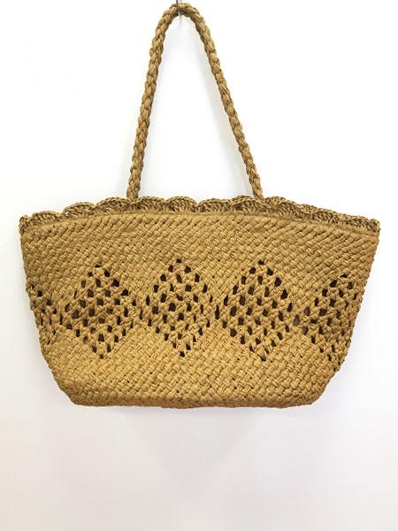 柄編みペーパートートバッグ