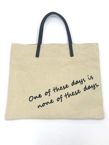 PEAK&PINE 刺繍ロゴ入りトートバッグ