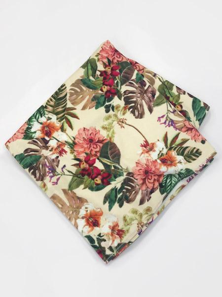 花柄大判ビーチタオル