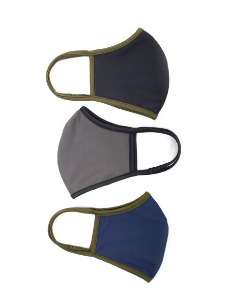 バイカラーパイピングマスク【洗える水着素材のUVカットマスク】(202021)