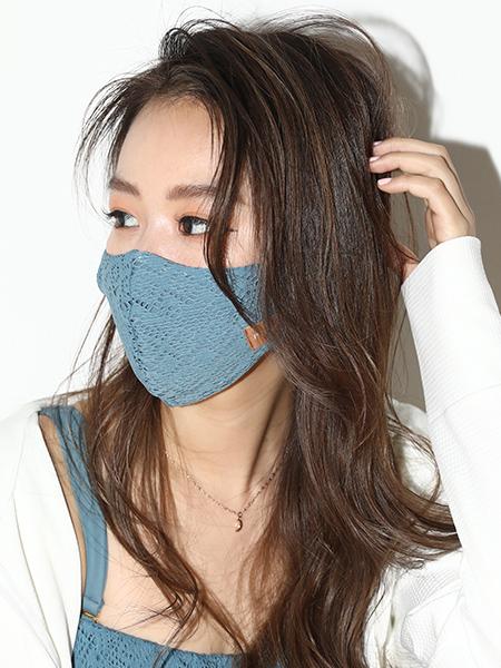 レースマスク【洗える水着素材のUVカットマスク】(202033)
