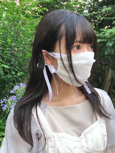リボン・花レースマスクカバー(202038)