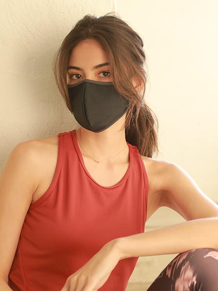 バイカラーパイピングマスク(202056)