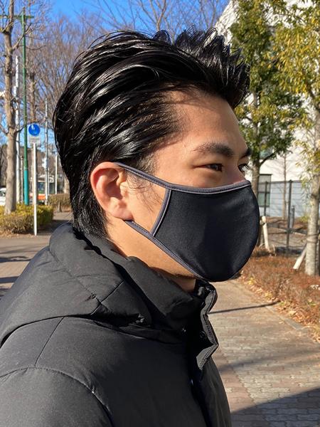 パイピングマスク(ブラック)着用