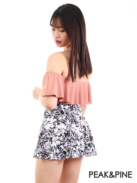花柄スカート(208051)とコーディネート