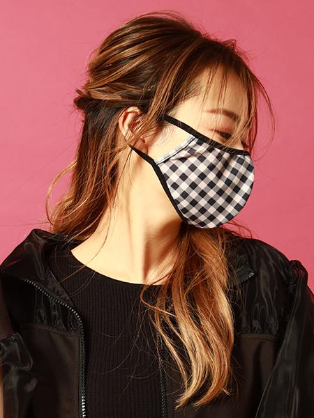 ギンガムチェックパイピングマスク(212008)
