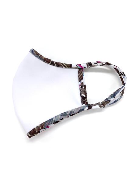 レオパード柄パイピングマスク【抗菌裏地】【洗える水着素材のUVカットマスク】(212042)
