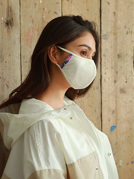 トロピカル柄パイピングマスク(212054)