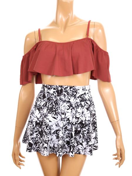 花柄スカート(218002)とコーディネート