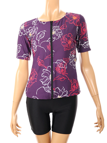 紫(袖付き)