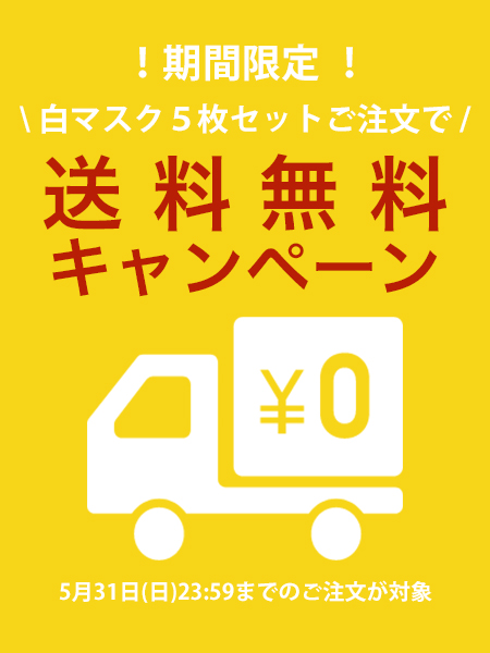 【送料無料】水着素材のUVカットマスク白5枚セット【最短発送】